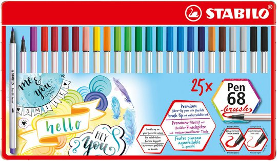 STABILO Fiberspisspenner Premium 25-pack I Metalletui