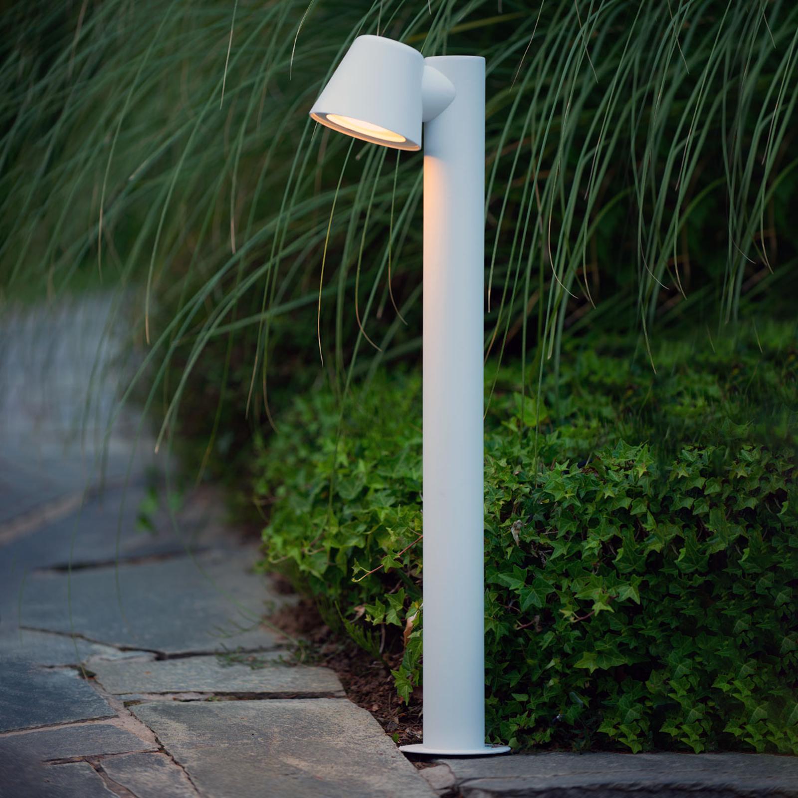 Valkoinen LED-pylväsvalaisin Dingo, GU10-LED