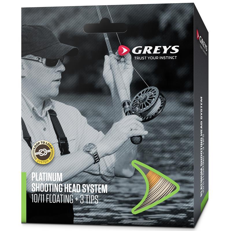 Greys Platinum Shooting Head #8/9 Flytende tohåndssystem med 3 tipper