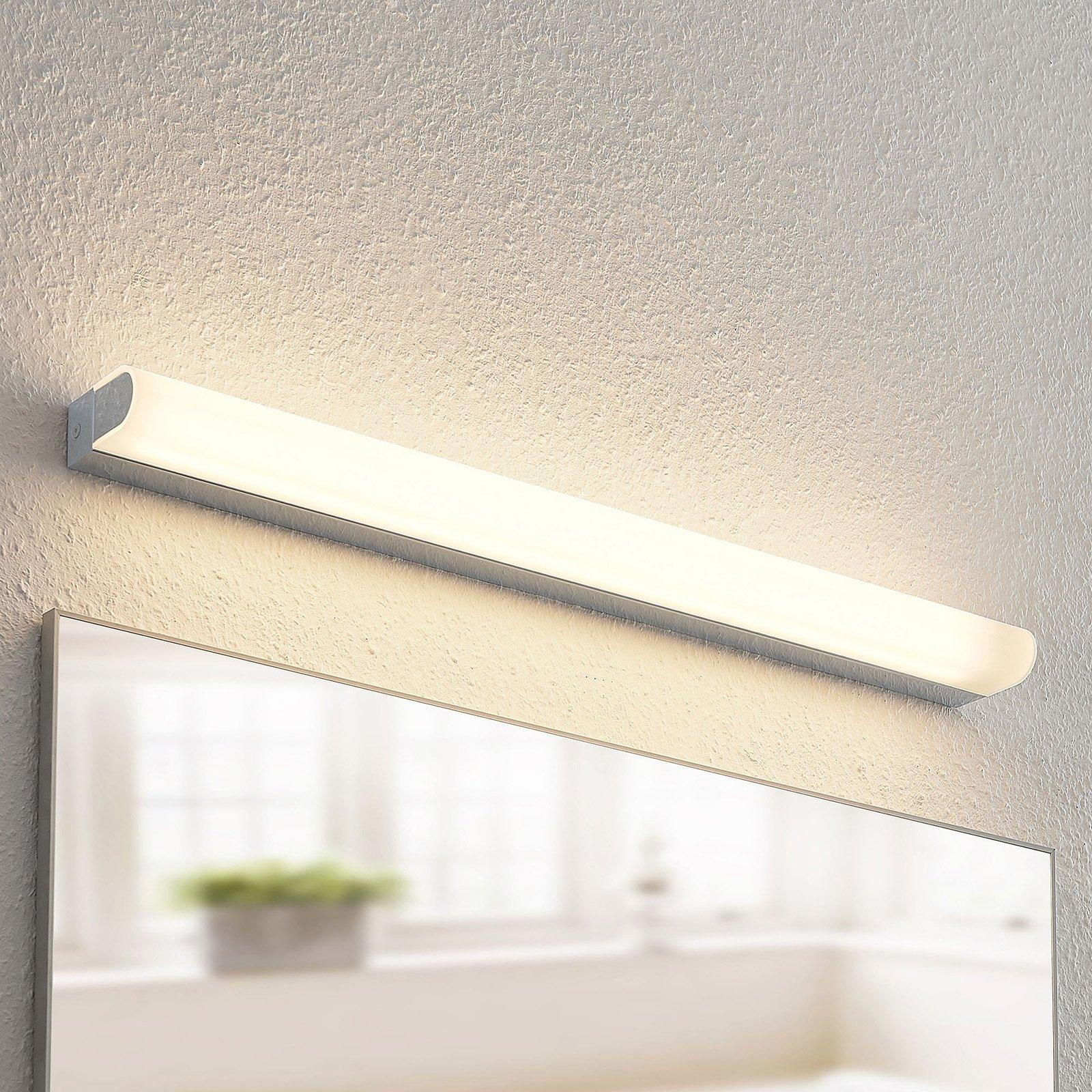 Arcchio Mourice LED-vegglampe, IP44, krom, 71 cm