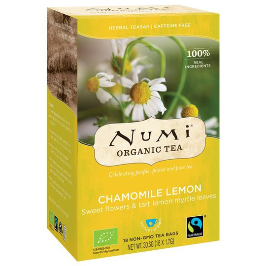 Numi Organic Tea Chamomile Lemon, 18 påsar