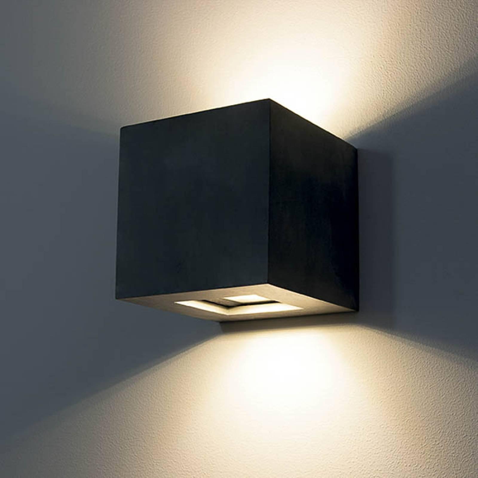 Utendørs LED-vegglampe 1092 up & down, svart