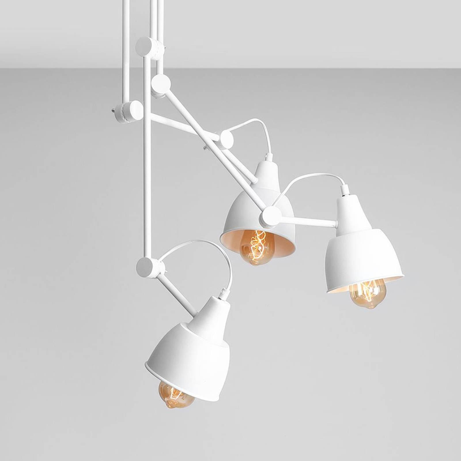 814 taklampe, justerbar, 3 lyskilder, hvit