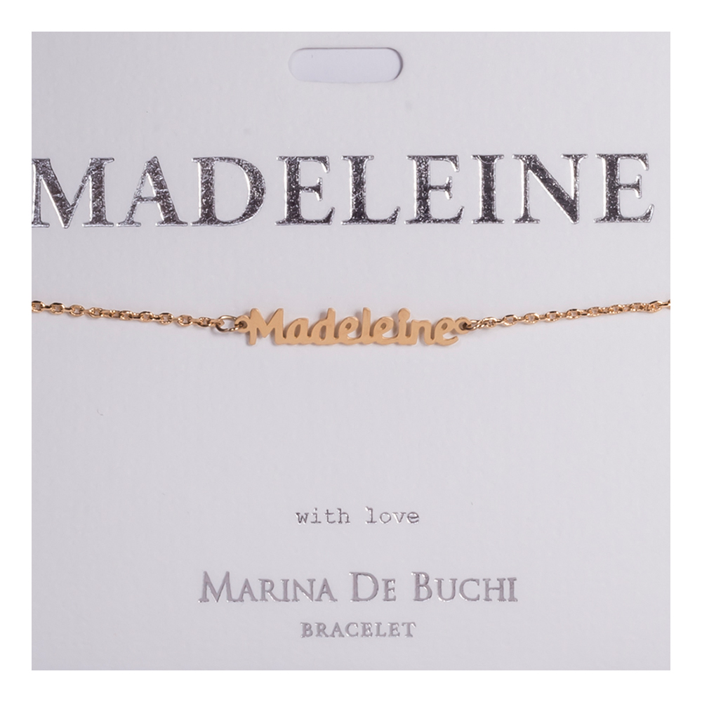Namnarmband Guld - Madeleine