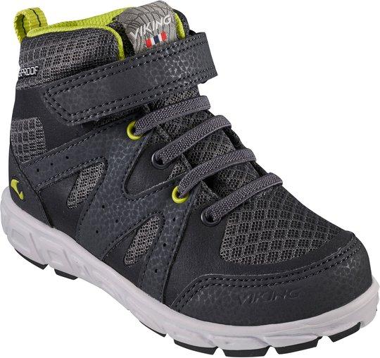 Viking Tolga Mid WP Sneaker, Charcoal/Black, 22