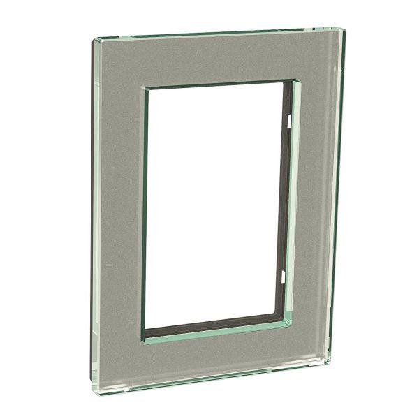 Schneider Electric Exxact Solid Dekkramme 2-roms, glass