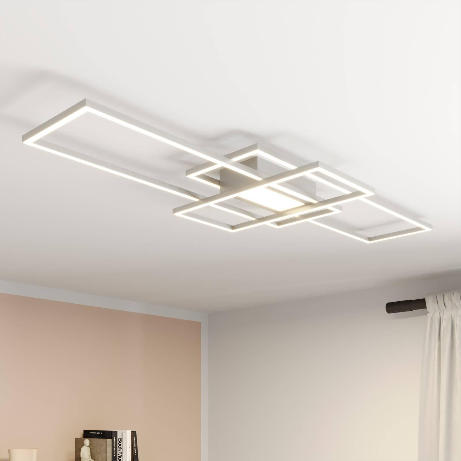Lindby Mairin -LED-kattovalaisin, mattanikkeli