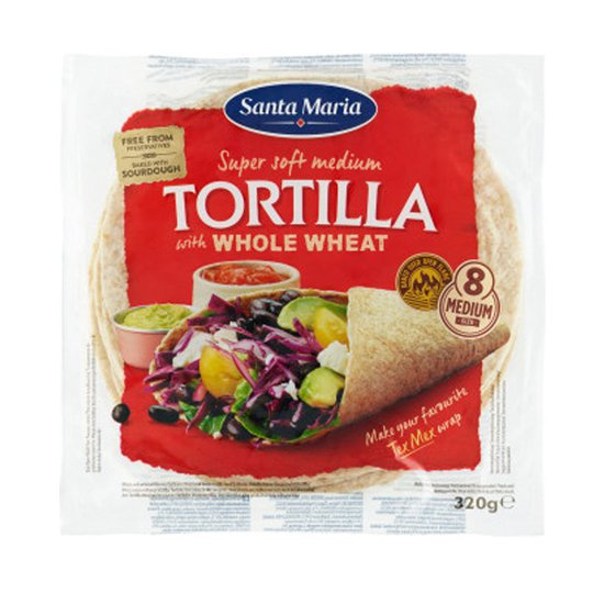 "Tortillaleivät ""Whole Wheat"" 320g - 95% alennus"