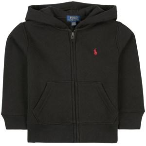 Ralph Lauren Black and Red Logo Full Zip Hoodie 2 år