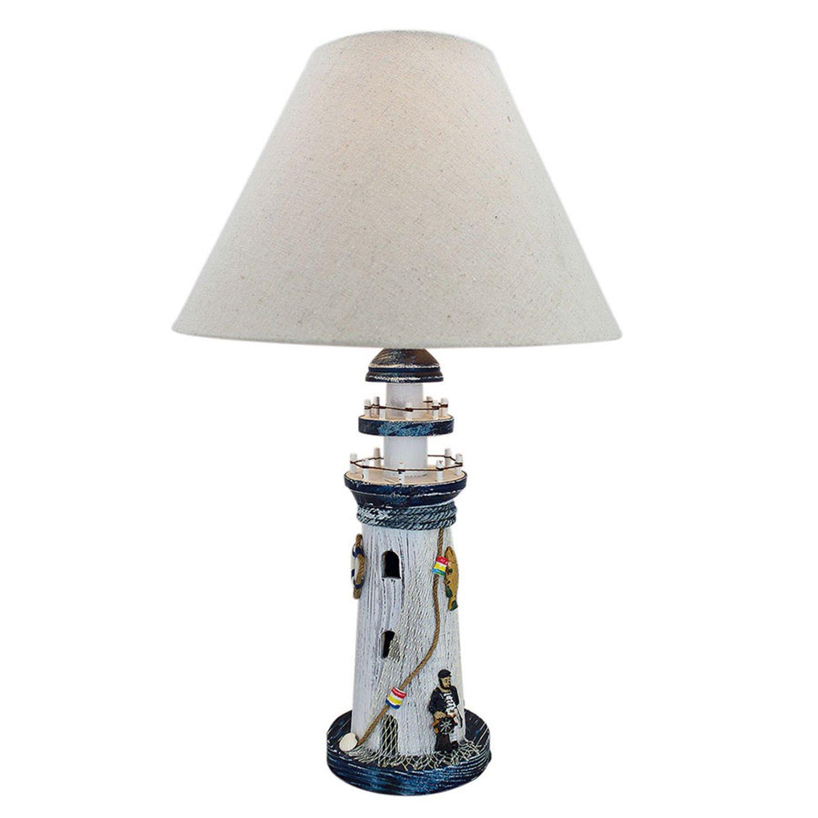 Bordlampe 5760 fyr med tekstilskjerm