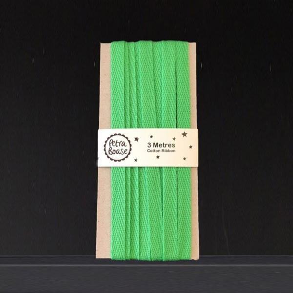 Green Cotton Ribbon 3M