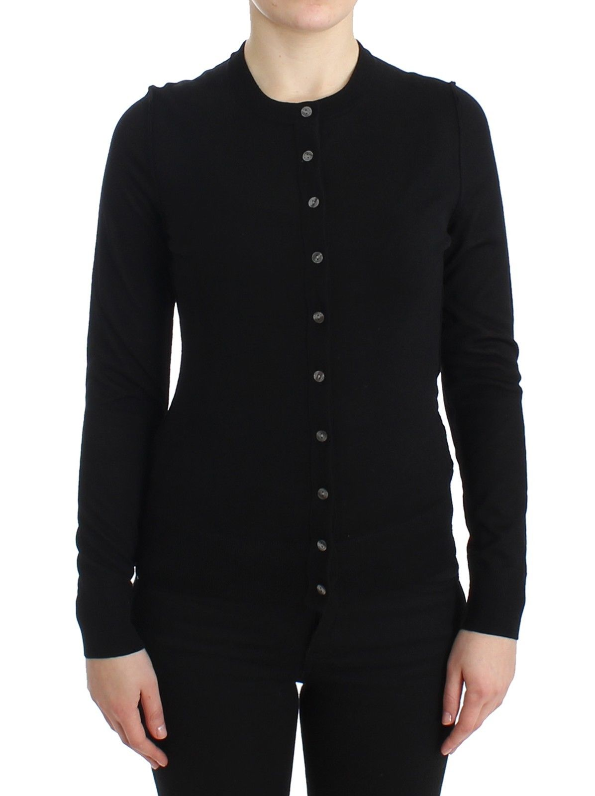 Dolce & Gabbana Women's STAFF Wool Cardigan Black SIG11739 - IT46