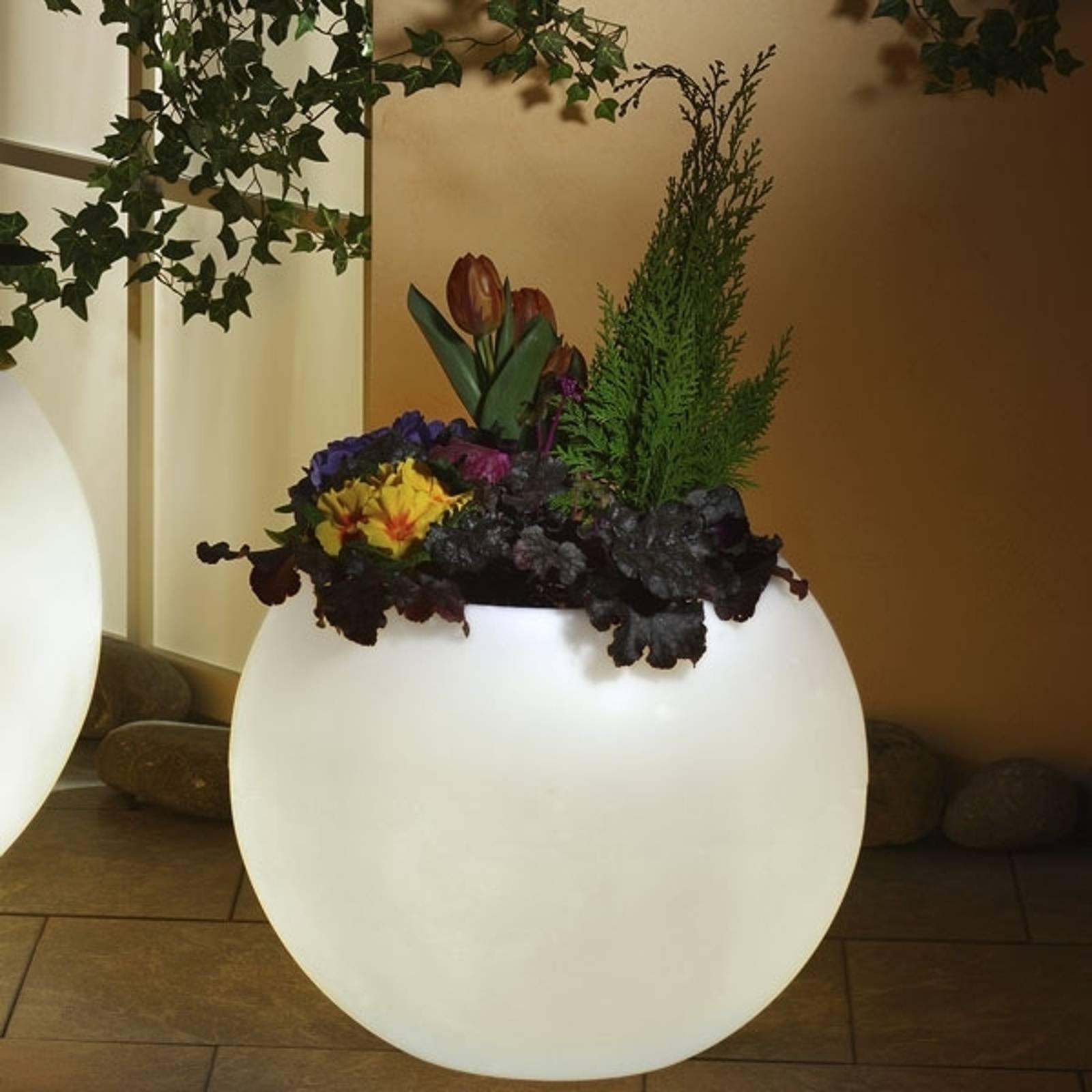 Valaistu kukkaruukku, huippulaatua valkoinen 50