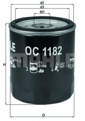 Öljynsuodatin KNECHT OC 1182