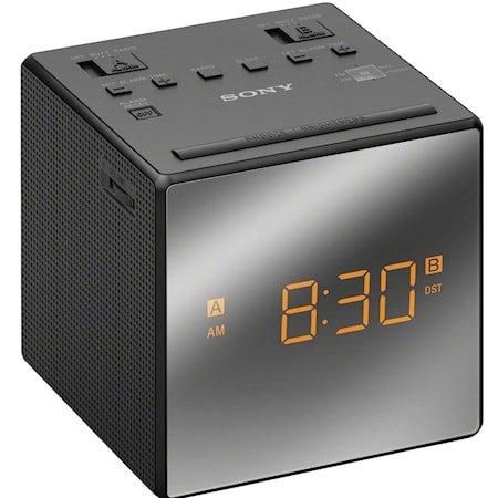 Øvrige Klokkeradio med to alarmer Svart