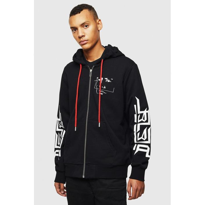 Diesel Men's Sweatshirt Black 294006 - black L