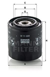 Öljynsuodatin MANN-FILTER W 11 008