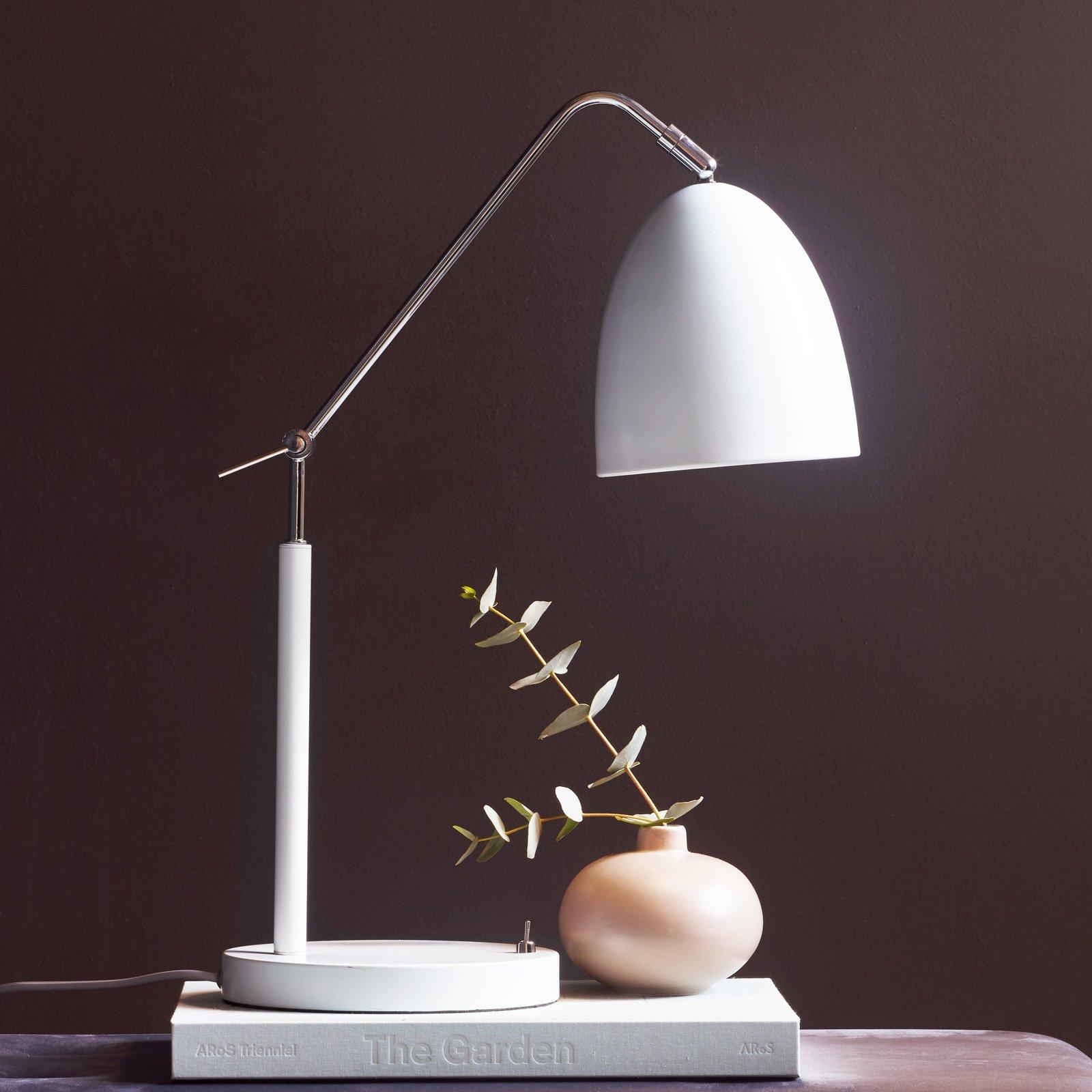 Bordlampe Alexander med ledd, hvit