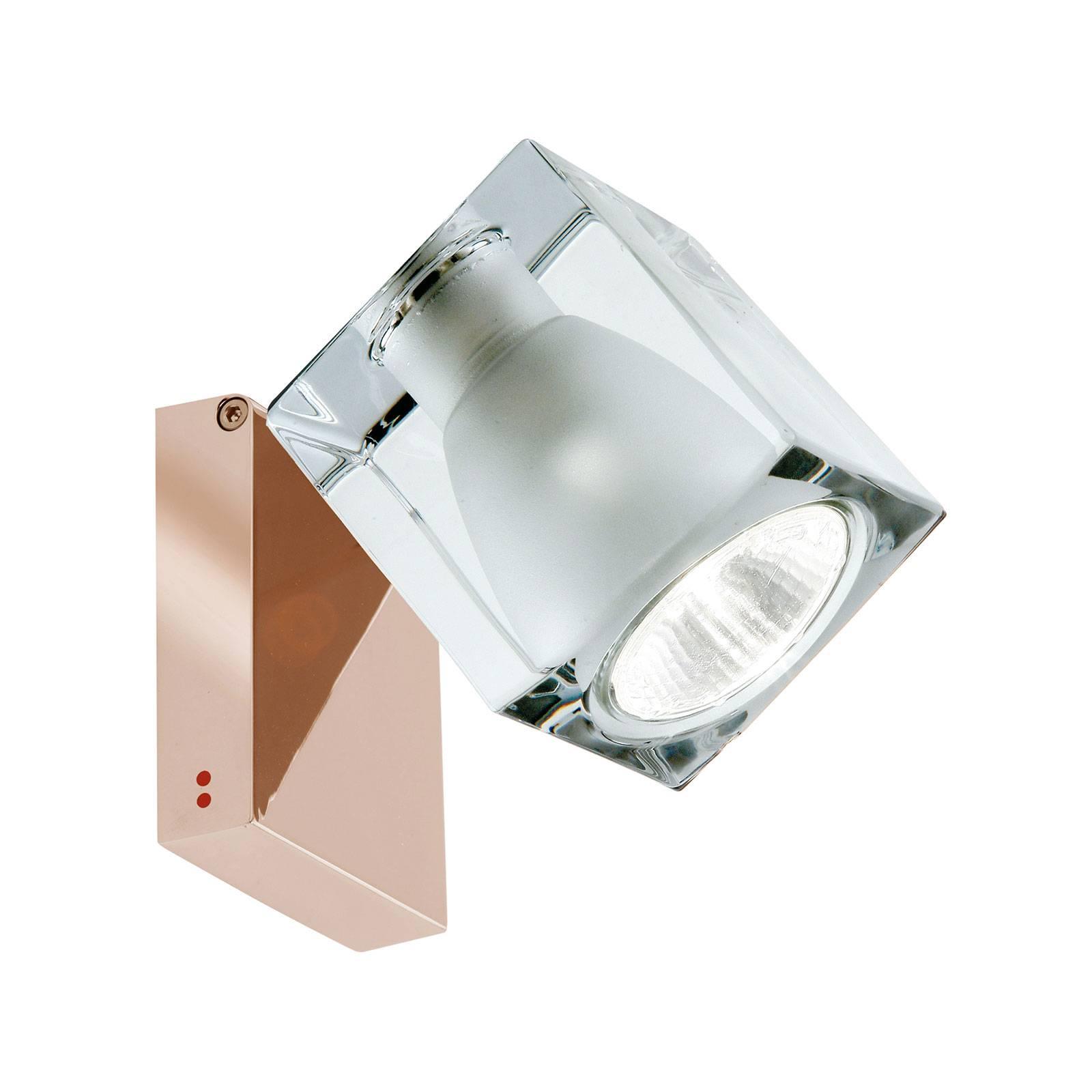 Fabbian Cubetto -seinälamppu GU10 kupari/kirkas