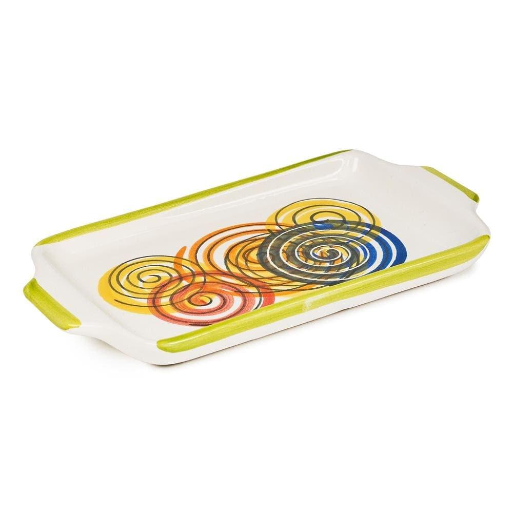 Medium Rectangular Dish 24.5cm by Sol'Art with Coloured Spirals