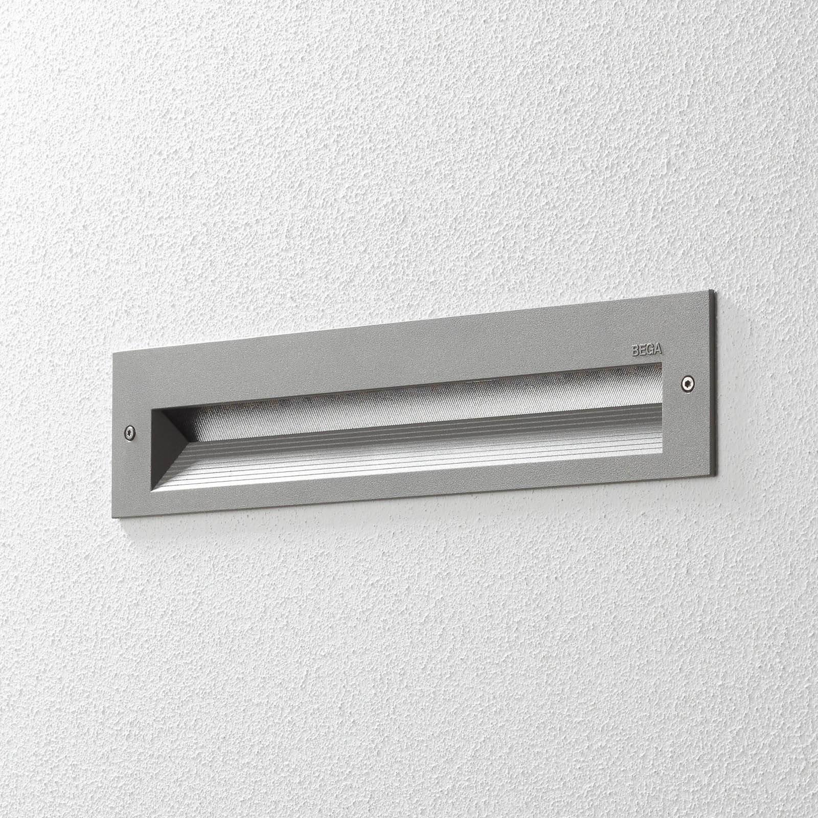 BEGA 33055 LED-veggmontering 3 000 K sølv 32 cm