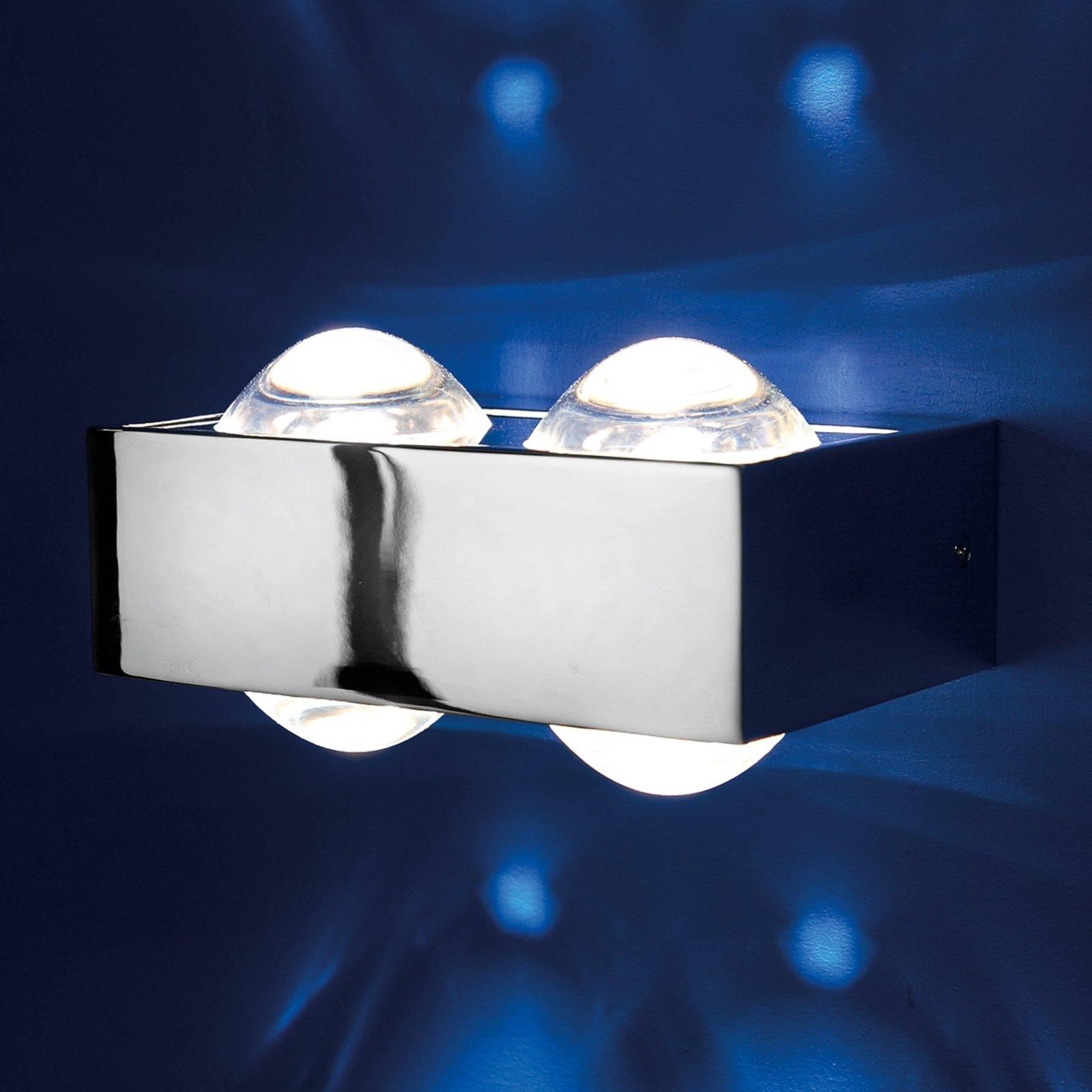 4 linser: Vegglampen Focus 150, krom