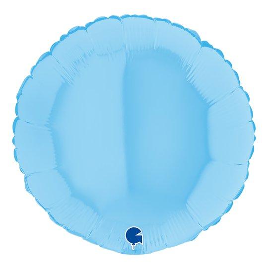 Folieballong Rund Pastellblå Matt - 45 cm