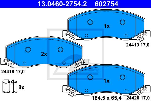 Jarrupalasarja, levyjarru ATE 13.0460-2754.2