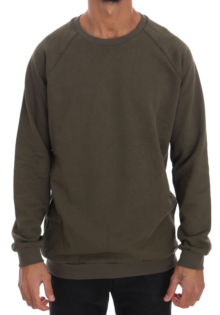 Daniele Alessandrini Men's Crewneck Cotton Sweater Green TSH1339 - M