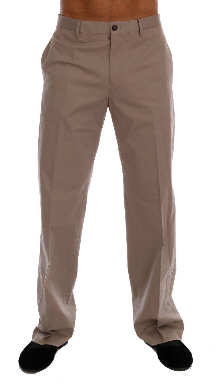 Dolce & Gabbana Men's Cotton Stretch Trouser Beige PAN60708 - IT44   XS