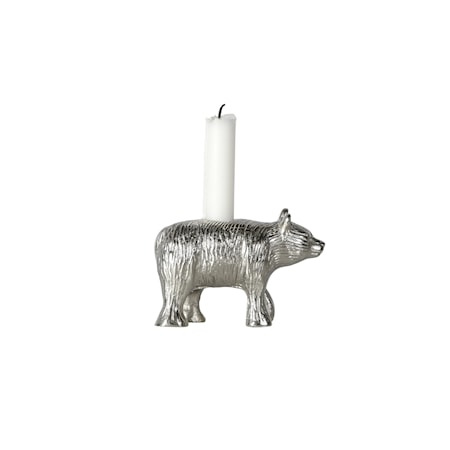 Ljusstake Bear Silver