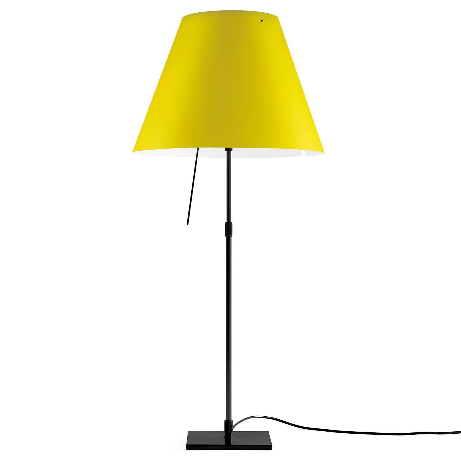 Luceplan Costanza bordlampe D13 svart/gul