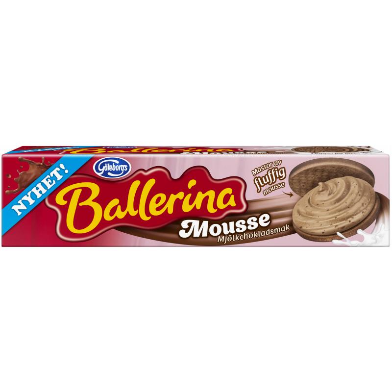 Ballerina Mousse Mjölkchoklad 185g - 41% rabatt