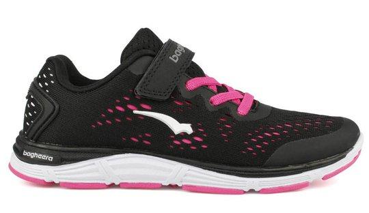 Bagheera Victory Jr Sneaker, Black/Pink, 28