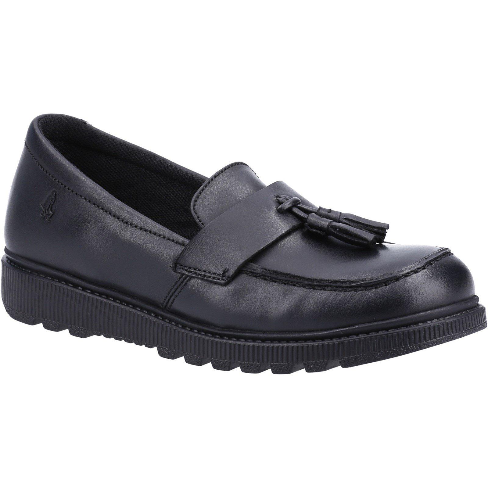 Hush Puppies Kid's Faye Junior School Shoe Black 30843 - Black 11