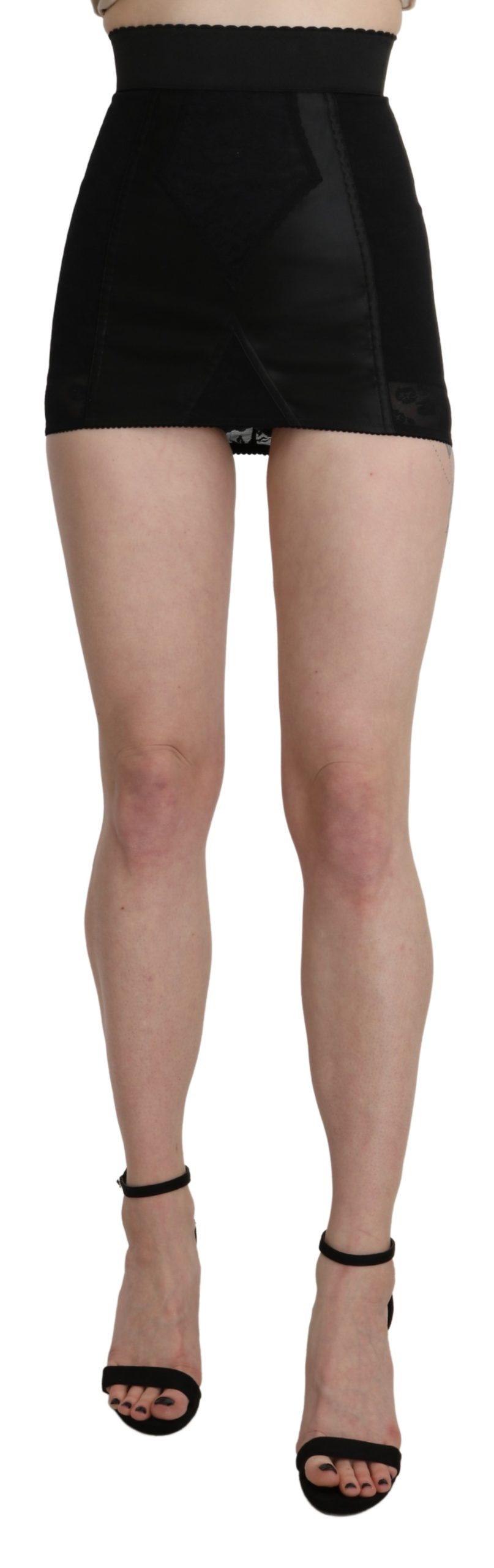 Black Underskirt Short Lace Stretch Skirt - IT36 | XS