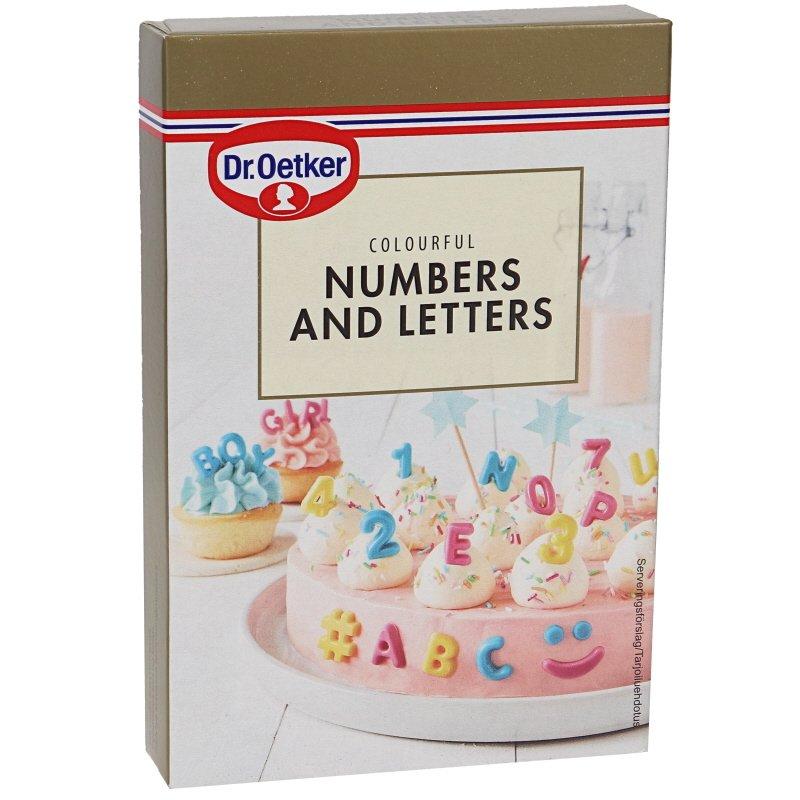 Koristekuviot Numbers & Letters - 27% alennus