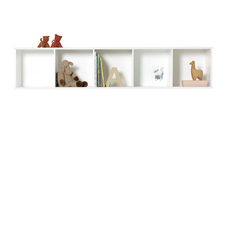 Wood horisontal hylla 5 x 1 för vägg, Oliver Furniture
