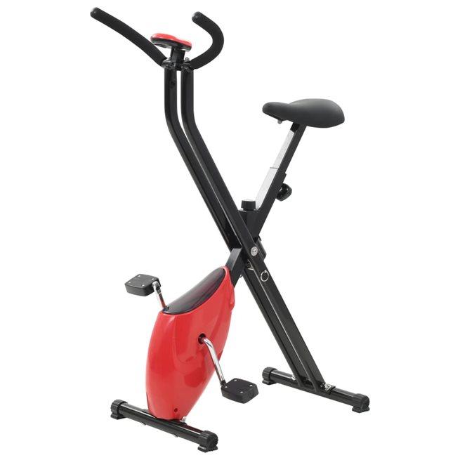 vidaXL Träningscykel X-bike remdrift röd