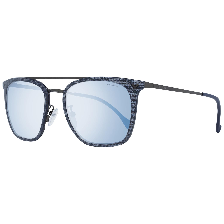 Police Unisex Sunglasses Blue PL152N 53AG2B