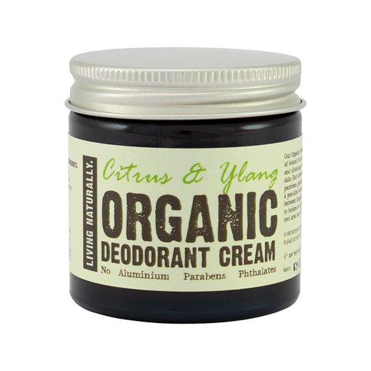 Living Naturally Citrus & Ylang Deodorant Cream, 60 g