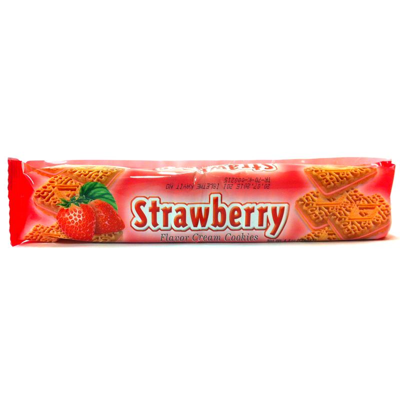 Fyllda kex med jordgubb - 28% rabatt