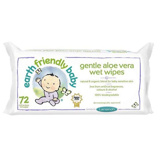 Earth Friendly Baby Gentle Aloe Vera Wet Wipes, 72 st