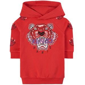 Kenzo Tiger Mjukis-klänning Röd 2 år