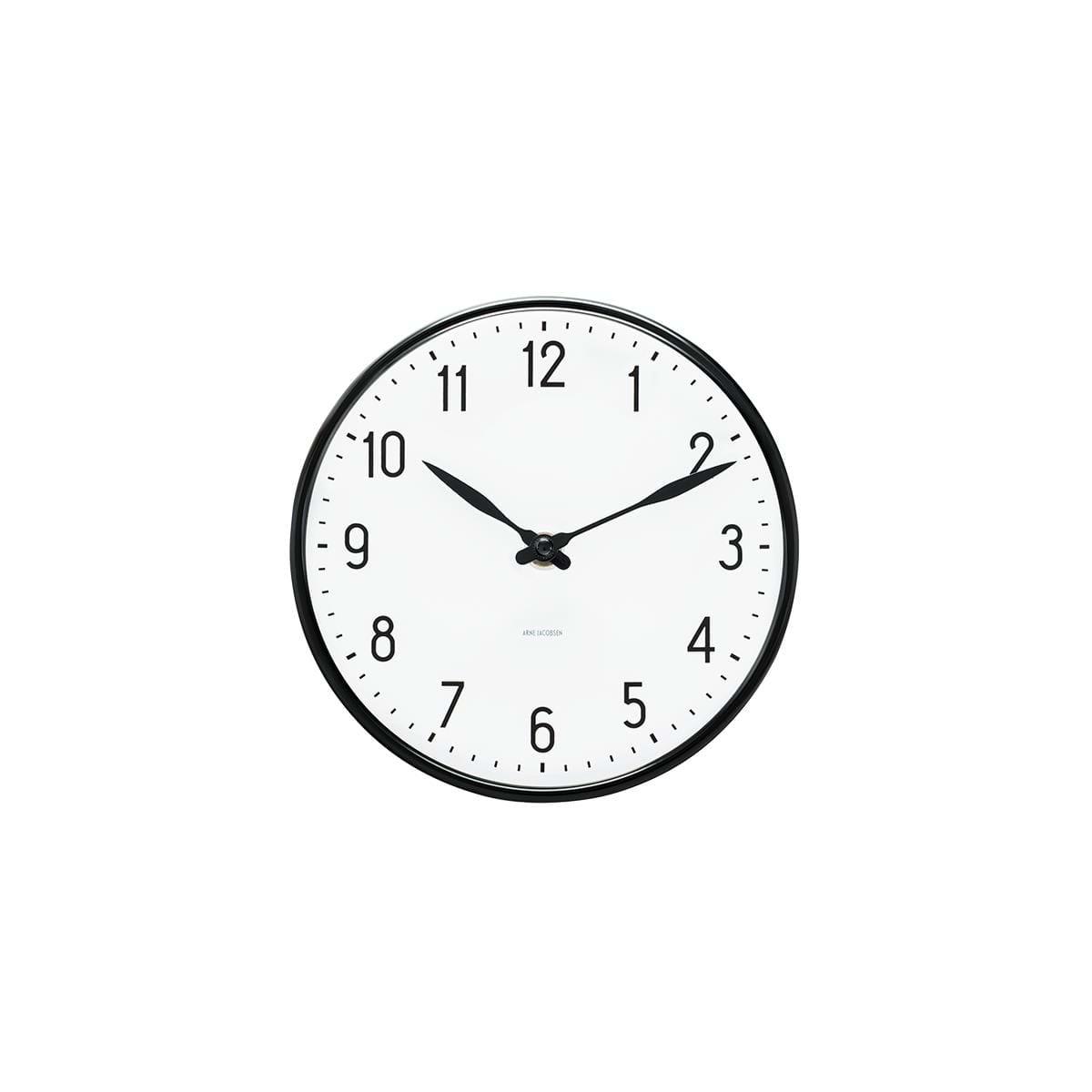 Arne Jacobsen - Station Wall Clock Ø 21 cm - Black (43633)