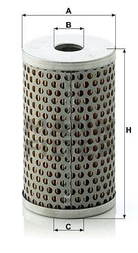 Hydrauliikkasuodatin, ohjaus MANN-FILTER H 601/4