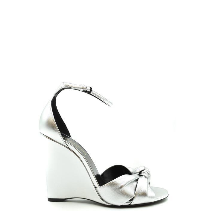 Saint Laurent Women's Sandal Silver 179552 - silver 36