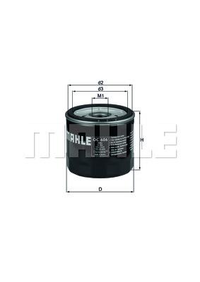 Öljynsuodatin MAHLE ORIGINAL OC 606