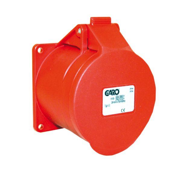 Garo Basic Pistorasia IP44 5-napainen 16A 6h, punainen