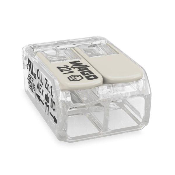 Wago 221-482 Puristusliitin läpinäkyvä, lukitusvipu 2 liitosasentoa, 100 kpl